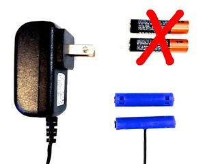 AAA Battery Sized Power Adapter 3VDC Replace 2 AAA batts w/AC wall current