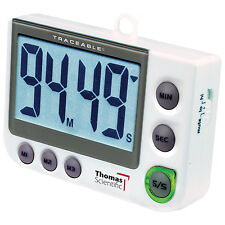 Traceable Flash LED Alert Big-Digit Alarm Timer, 0.01% Accuracy programmable New