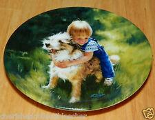 Collector Miniature Plate Donald Zolan Backyard Buddies 1991 #8918A