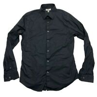 Express 1MX Black Fitted Long Sleeve Button Up Shirt - Mens Medium M  15-15.5
