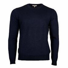 Farah Mens Long Sleeve Crew Neck Sweater in Dark Navy Marl Medium  g9