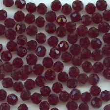 5000 6 *** 12 perles RONDES de Swarovski 6mm GARNET