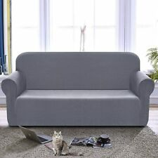 Chelzen Stretch Sofa Covers 1-Piece Polyester Spandex Fabric (Large|Light Gray)