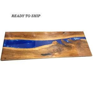 Epoxy Table, Console Table  Live Edge Wood Table, Resin River Table With Stand