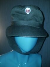 Original East German NVA Army Earflaps Cap M-43 Style Hat w Metal Badge COCKADE