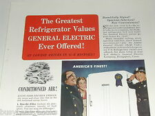 1940 General Electric ad, GE, refrigerator
