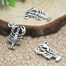 20pcs Lobster Charms silvertone  Lobster Charms Seafood Charm pendant 22x16mm