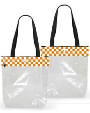 R42 Tennessee Volunteers NCAA Licensed Clear Stadium Zip Top Tote Purse Bag NWT