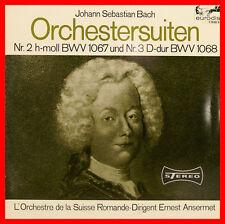 """BACH SUITES POUR ORCHESTRE NO 2 ET N° 3 SUISSE ROMANDE ERNEST ANSERMET 12"""" LP"""
