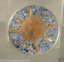 Antique Mexican Silver Sun Pin Sterling Taxco Signed Hallmarked As Is