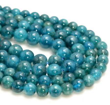 Green Blue Apatite Gemstone Grade AAA Round 8mm 6mm Loose Beads (A264)