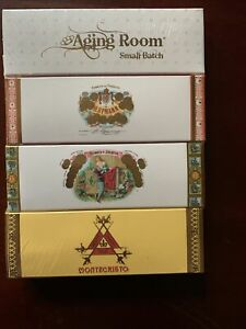 "New4 Boxes Montecristo , H. Upmann ,Romeo Y Julieta, Aging Room 4"" MATCHES"