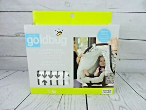 Lightweight Canopy Cover Goldbug Grey White Arrows Unisex Baby Infant Carseat