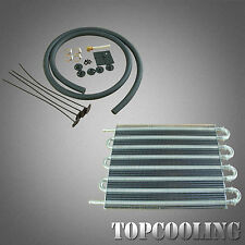 8 Row Remote Transmission Oil Cooler + Hose / Converter Kits Manual- Auto