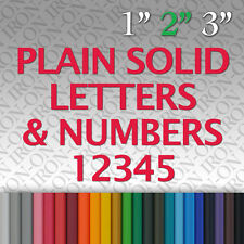 Iron-on Plain Solid Letters Numbers Vinyl Fabric T-Shirt Transfer Sticker Craft