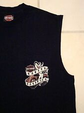 Harley-Davidson Motorcycles Pinup Girl Daytona Front Pocket Sleeveless T Shirt S