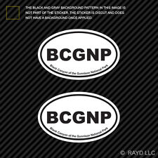 Pair of Black Canyon of the Gunnison National Park Oval Sticker Decal Euro BCGNP