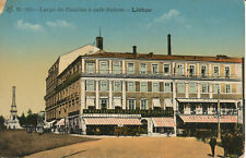 PC36464 Largo de Camoes e Cafe Suisse. Lisboa. No 30. B. Hopkins