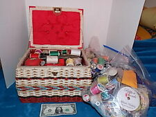 Sewing Supplies with vintage box