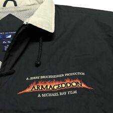 Vintage 1998 ARMAGEDDON Movie Cast and Film Crew Jacket Size XL Coat Affleck VTG