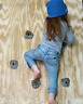 40  LARGE KIDS ROCK CLIMBING WALL HOLDS. BOLT ONS WITH hardware. MADE IN THE U.S