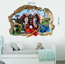 Lego Ninjago 3d Wall Tattoo Wall Sticker Children Decoration Wall Stickers 53x80cm