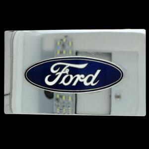 Vtg 80s NOS Ford V-8 Truck Gift Flathead Mustang F-Series Ranger Belt Buckle