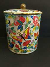 "The Tin Box Company Daher Made in England Butterflies Flowers 4.5""X 3.75"" *READ*"