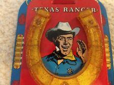 Superb antique rare 1950's Ohio Art Roy Rogers Cowboy Savings Tin Horseshoe Bank