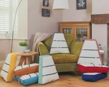 Soft Suede Magnetic Therapy Lumbar Support Triangle Cushions - 13 colours