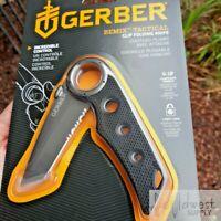 "Gerber Remix Tactical Folding Knife 3"" Part Serrated Tanto Blade, G-10 Handle"