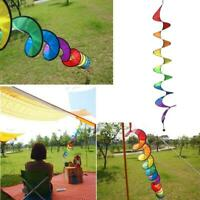 Camping Tent Foldable Rainbow Spiral Windmill Wind Home Spinner Sell R8V5