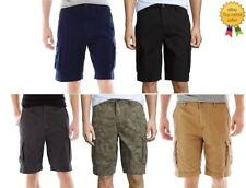Arizona Mens Cargo Shorts Cotton Flat Front size 26 28 29 30 31 40 42  NEW