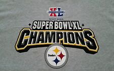 Pittsburgh Steelers Super Bowl XL Champions Logo's/Lettering T-Shirt! Nice!