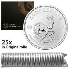 Südafrika - 25 x 1 Rand 2017 - 50 Jahre Krügerrand - 25 Oz Silber Premium ST