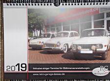 Kalender 2019 Oldtimer Wartburg / Trabant / Barkas / IFA