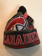 Montreal Canadiens Face-Off Cuffed Pom Winter Knit Hat Cap Men's