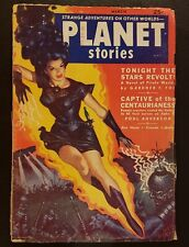 PLANET STORIES Pulp March 1952 v.5 #5 Classic Allen Anderson GGA cover