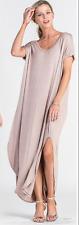 Red Lolly Contemporary V-Neck Maxi Dress - Lt Mocha Brown - Sz M