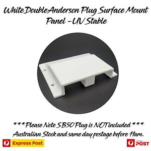 White Double Twin Anderson Plug Surface Mount Panel Kit External suit 50 Amp