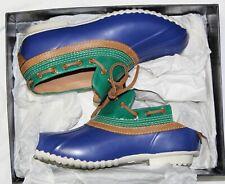 $795 Ralph Lauren Purple Label Collection Bryn Rubber Leather Duck Rain Boot 7