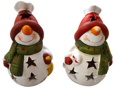 Snowman LED tealight (Star, Candycane)