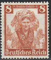 Stamp Germany Mi 592 Sc B73 WarFascism Kurmack Lusatia Native Costume MNG