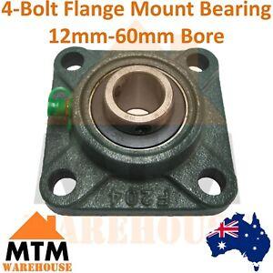 4 Bolt Flange Pillow Block Bearing Self Aligning Foot Housing 12mm-60mm Bore UCF