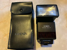 MINOLTA Maxxum 4000AF Shoe Mount FLASH for Film Camera + Carry Case