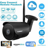Wireless 1080P HD Outdoor WiFI Night Vision IP Camera Security System with Alexa