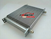 SILVER UNIVERSAL 30 ROW AN-10AN ENGINE TRANSMISSION RACING OIL COOLER