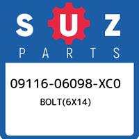 09116-06098-XC0 Suzuki Bolt(6x14) 0911606098XC0, New Genuine OEM Part