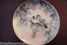 "The Franklin Mint Heirloom ""Finches and Palm"" Signed by J. Cheng[5-2]"