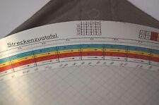 Streckenzugtafel , Duits, in goede staat twee in een hoes met gebruiksaanwijzing